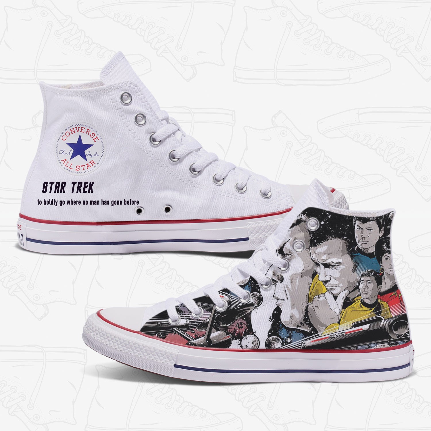 Star Trek Custom Converse