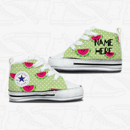 Watermelon Baby Infant Converse Shoes
