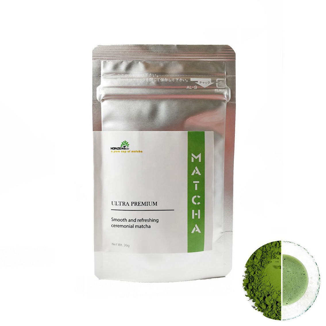ULTRA PREMIUM - Smooth and refreshing ceremonial Matcha 20g