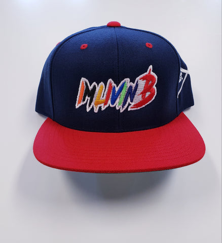 Enormous SnapBack(Navy w/Red Brim)