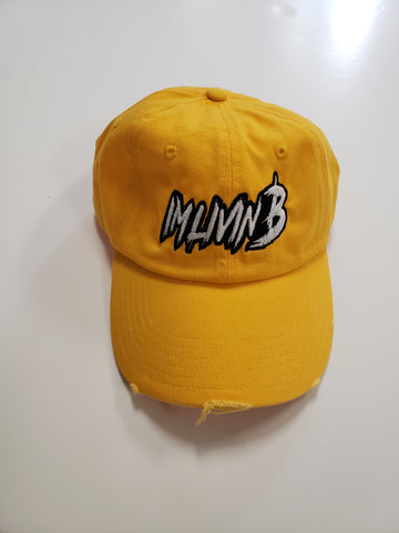 3D Ruff Logo Distressed Dad Hat(Yellow)