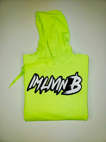 Safety Green 3D Ruff Logo Hoody