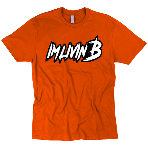 3D Ruff Logo T Orange (Black Back/White Logo)