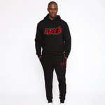 Triple 3D Ruff Logo Jogger Suit BOTTOM (Black/Red/White)