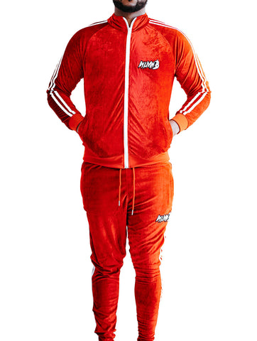 Velour Unisex Jogger Suit (Red) READ DESCRIPTION BEFORE ORDERING