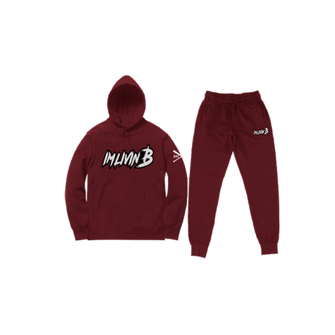 """Echelon"" Unisex Jogger Suit (Burgundy) READ DESCRIPTION BEFORE ORDERING"