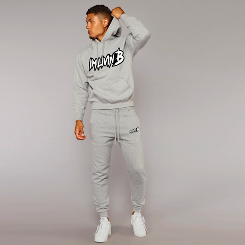 3D Ruff Logo Jogger Suit BOTTOM (Grey)