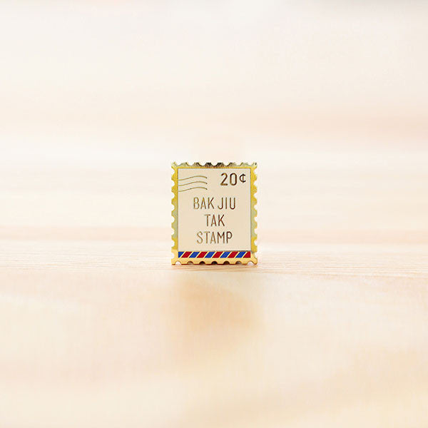 Strangely Singaporean Brooch – Bak Jiu Tak Stamp