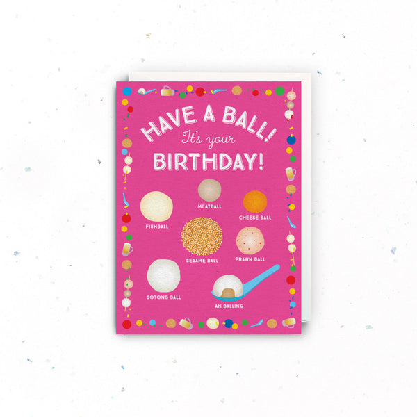 Singapore Greeting Cards – Birthday (Balls)