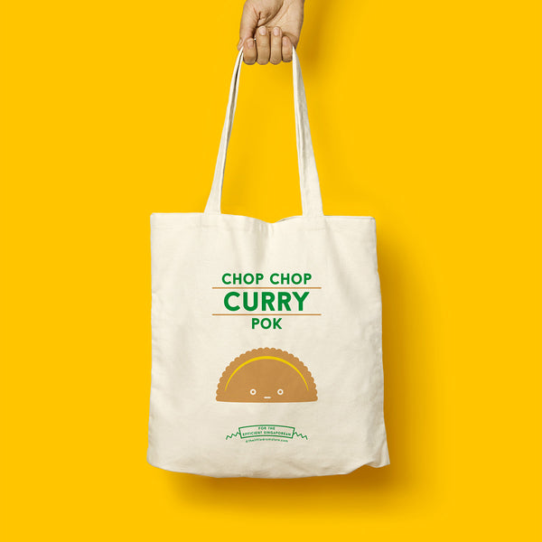Strangely Singaporean Tote – Chop Chop Curry Pok