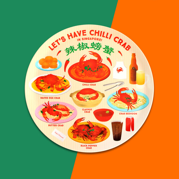 10 Inch Plate – Let's have Chilli Crab in Singapore