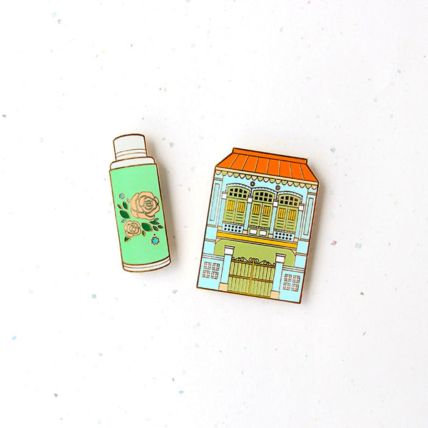 Treasures of SG Magnet – Shophouse & Flask