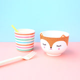 Polkaros Cup & Bowl Set – Fox