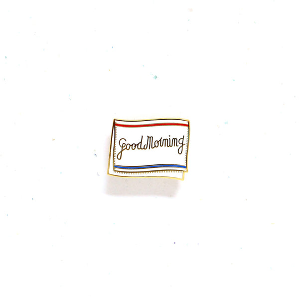 Everyday SG Pin – Good Morning Towel