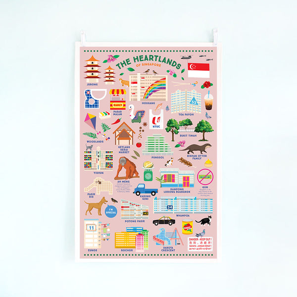 Tea Towel – Heartlands of Singapore (Rainbow HDB)