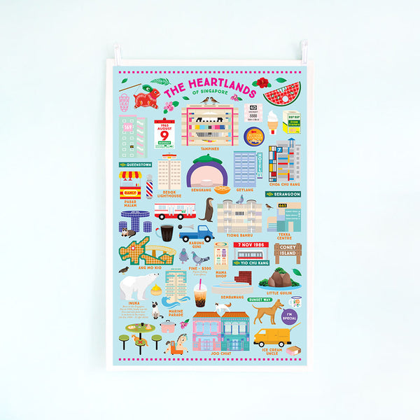 Tea Towel – Heartlands of Singapore (TV HDB)