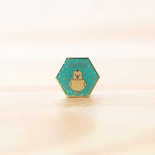 Strangely Singaporean Pin – Kaypoh
