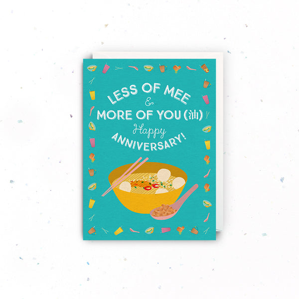 Singapore Greeting Cards – Anniversary (Less Mee More You)