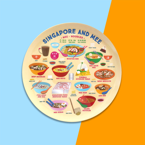 10 Inch Plate – Singapore & Mee