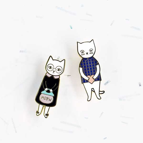 Audrey Jeanne Brooch – Mr Cat