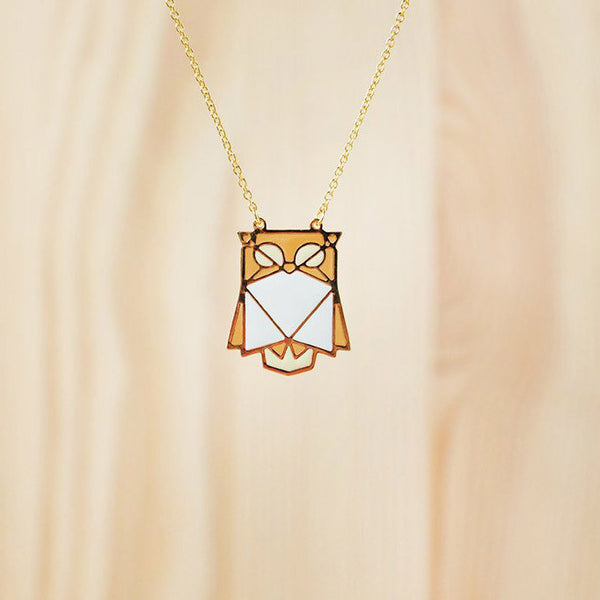 Hug A Porcupine Necklace – Owl