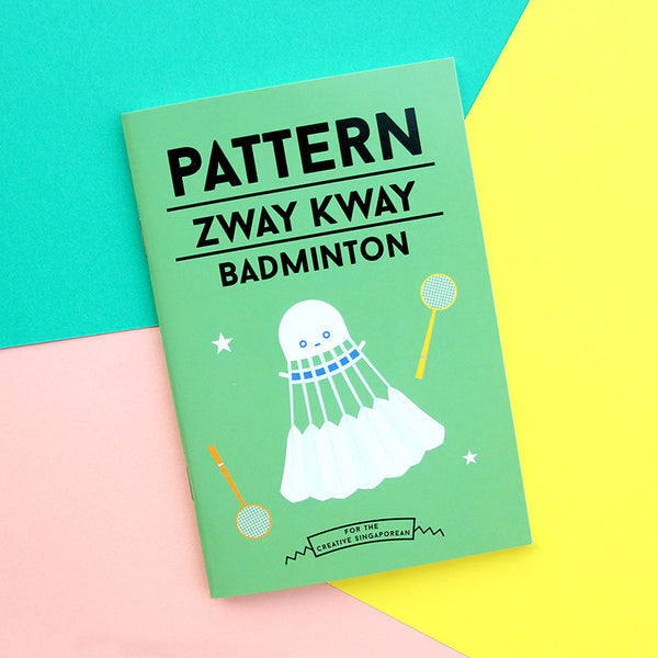 Strangely Singaporean Notebook – Pattern Zway Kway Badminton