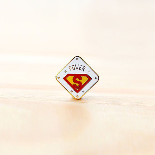 Strangely Singaporean Pin – Power