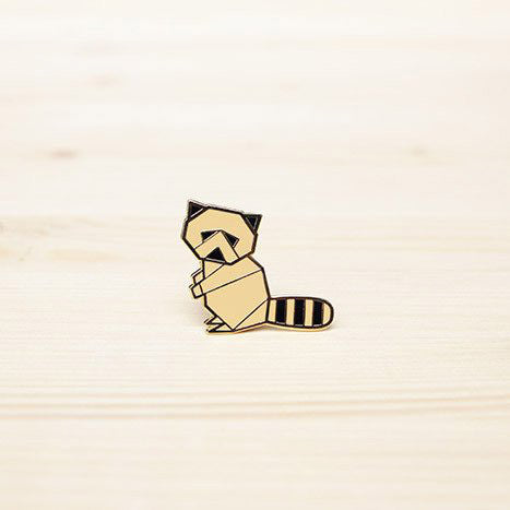 Hug A Porcupine Pin – Raccoon