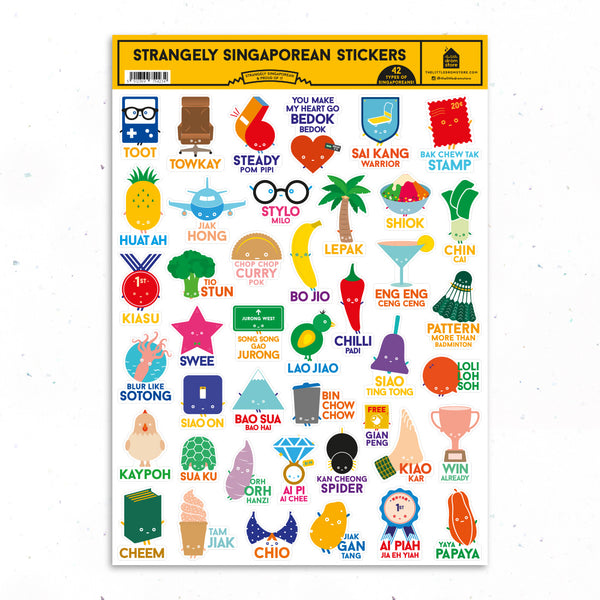 Strangely Singaporean Stickers - 42pcs