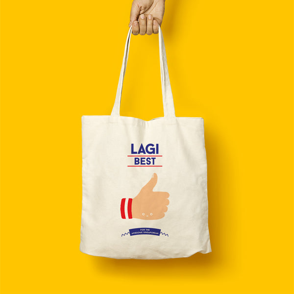 Strangely Singaporean Tote – Lagi Best