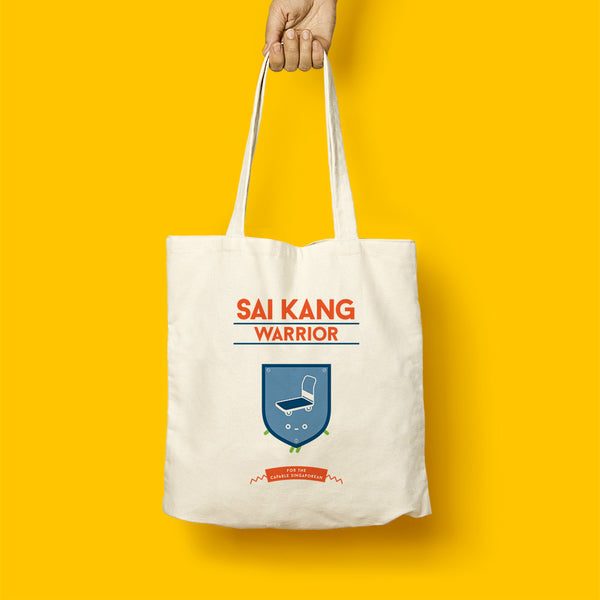 Strangely Singaporean Tote – Sai Kang Warrior