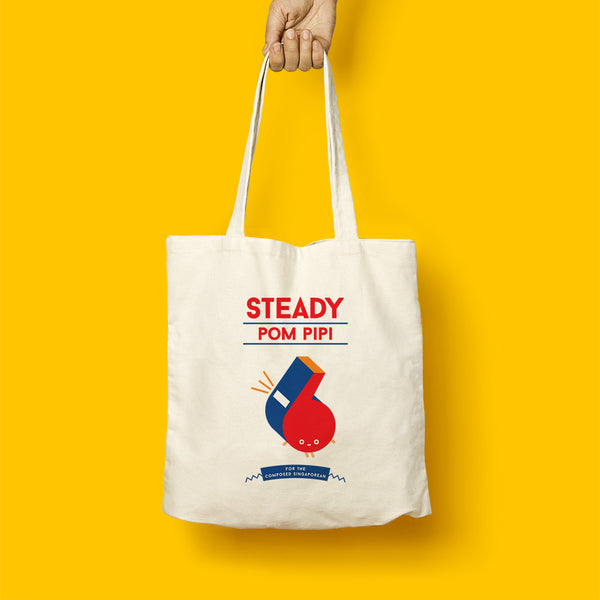 Strangely Singaporean Tote – Steady Pom Pipi