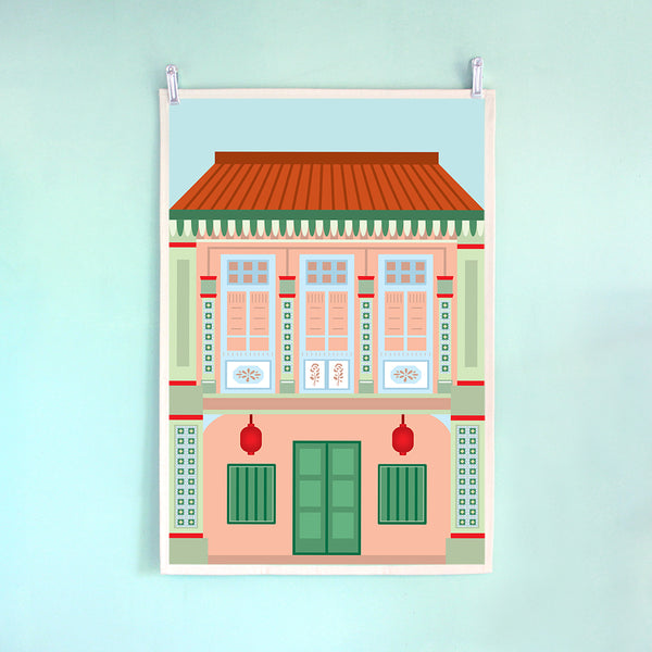 Tea Towel – Shophouse Pink