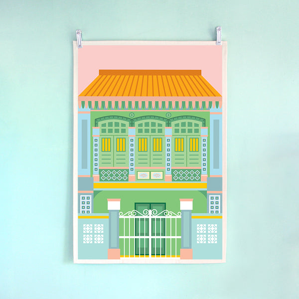 Tea Towel – Shophouse Blue