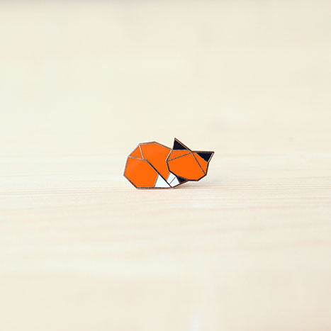 Hug A Porcupine Pin – Woodland Fox (sleeping)