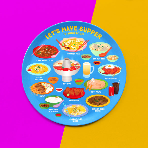 10 Inch Plate – Let's have Supper in Singapore