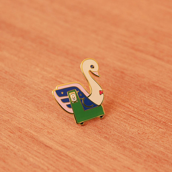 Kiddy Ride Pin - Swan