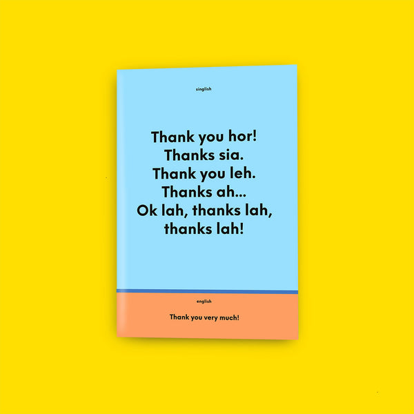 Singlish VS English Notebook – Thank you