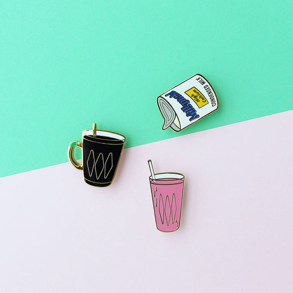 Kopitiam Brooch – Condensed Milk