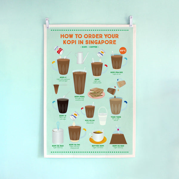 Tea Towel – How to order your kopi