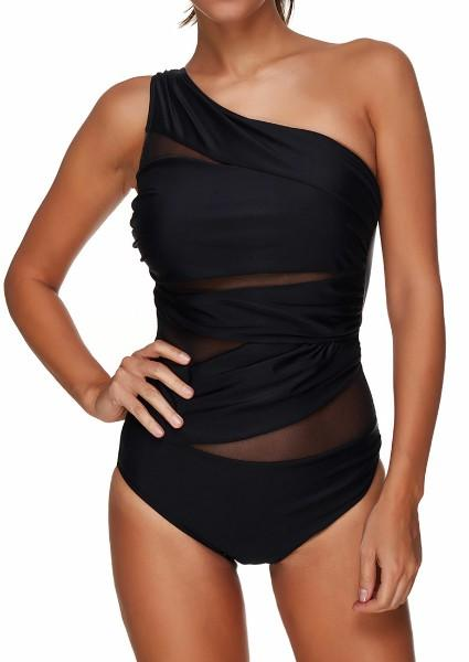 Mesh Splicing Swimsuit