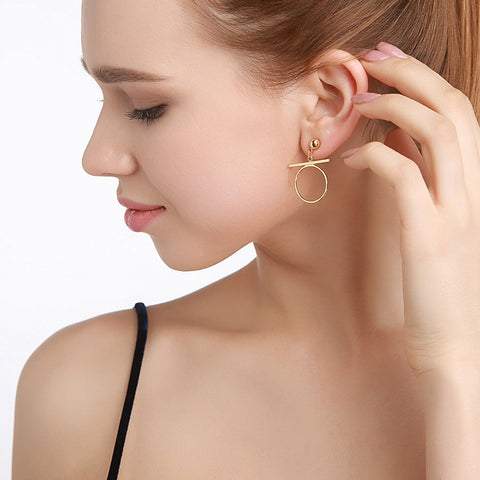 Flash Sale-Balance on Circle Earring