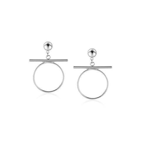 Balance on Circle Earring