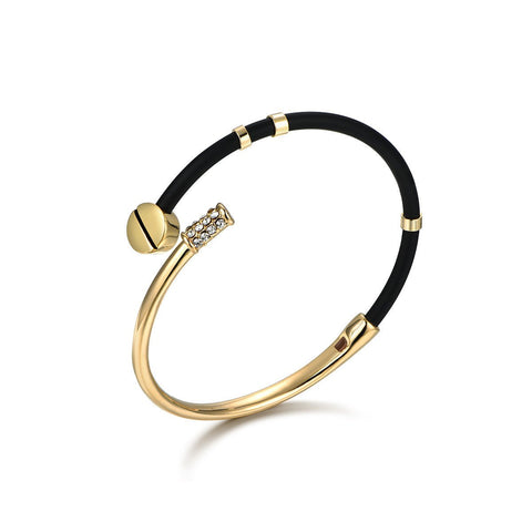 Flash Sale-Black and Golden Bracelet
