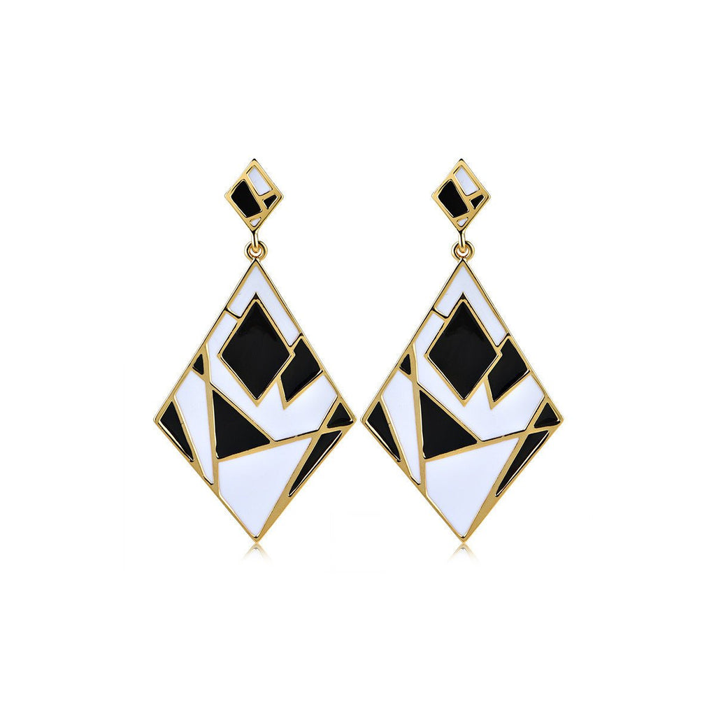 Earrings-Black And White Earrings