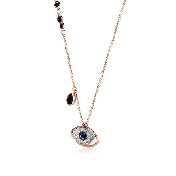 Blue Eye of God Necklace