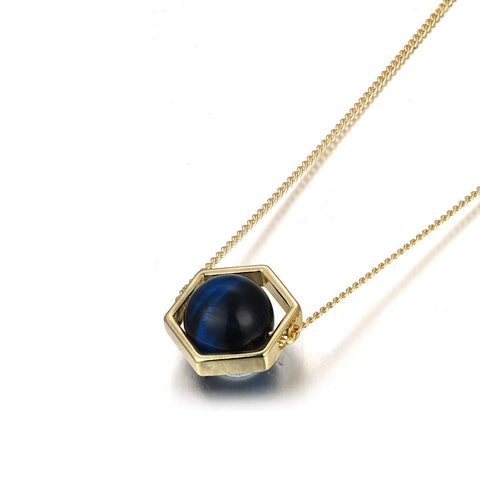 Flash Sale-Blue Tiger's Eye Necklace