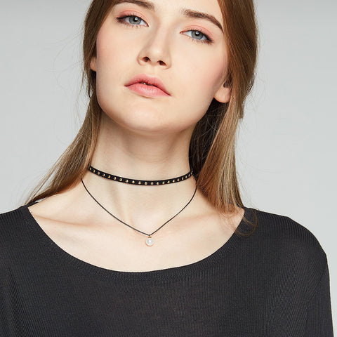 Flash Sale-Boisterous Black Necklace