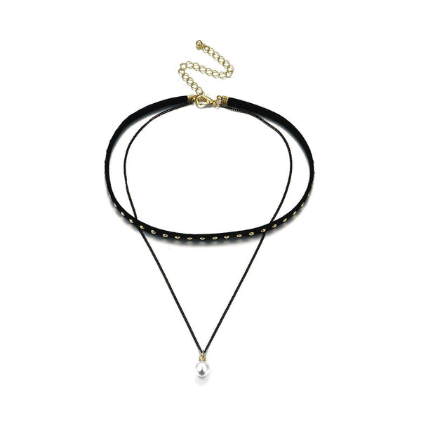 Boisterous Black Necklace