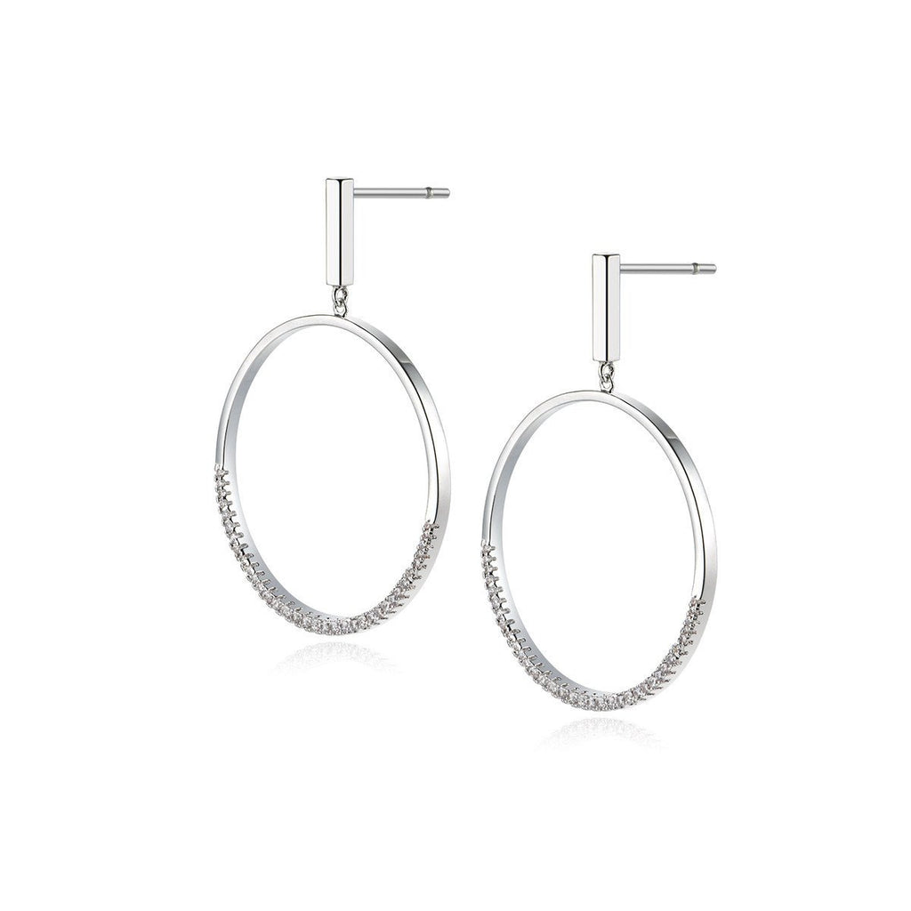 Earrings-Drop Circle Ring Earrings